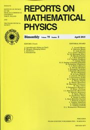 Reports on Mathematical Physics 75/2 2015 Pergamon,